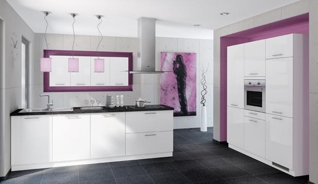 Cocinas modernas y vintage Disenos de cocinas integrales blancas